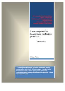 Lietuvos ivaizdzio strategijos projektas. Santrauka 2006