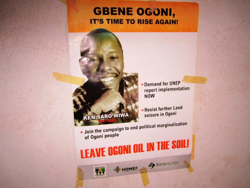 Poster of Ken Saro-Wiwa Great Ogoni it's time to rise again - packed
