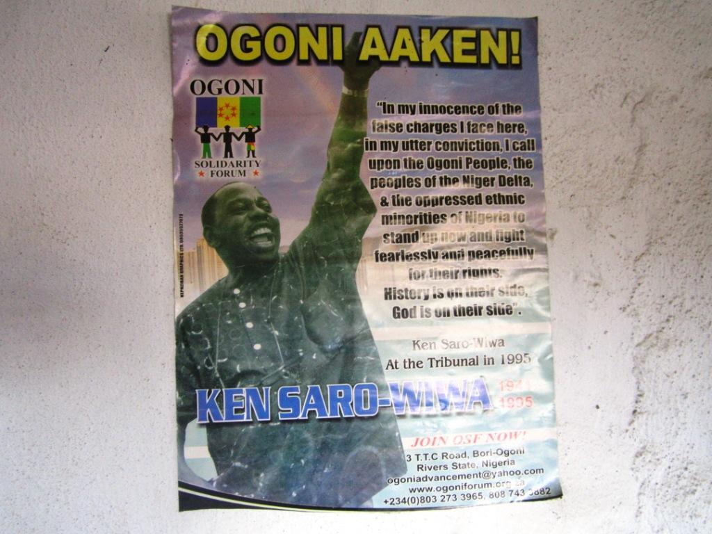 Poster of Ken Saro-Wiwa Ogoni Aaken Ogoni Arise - packed